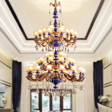 Church arte Ceramic lamp led Chandelier Lighting for project Villa hotel Chandeliers living room Modern Suspension Luminaire