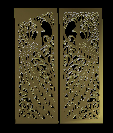 Door CNC Router Carving Engraving Relief Model STL Format 3D Model Artcam Type3 M242