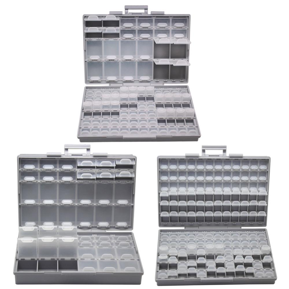 AideTek  Electronics Smd Storage Cases & Organizers SMD SMT Resistor Capacitor Enclosure Plastics Toolbox Whit Box BOXALLCOM3