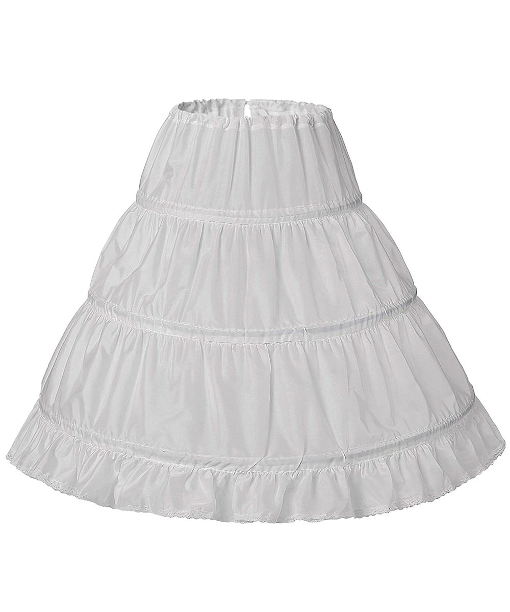 New Kids Cancan For Ball Gown Girls Dresses Crinoline Slip Mariage 3 Hoops Wedding Accessor Underskirt Petticoat Kids Size 2-14