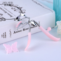 Stainless Eyelash Curlers Eye Curl Eyelash Assist Pink Butterfly Buckle Makeup Tools Volume Eyelash Tweezers