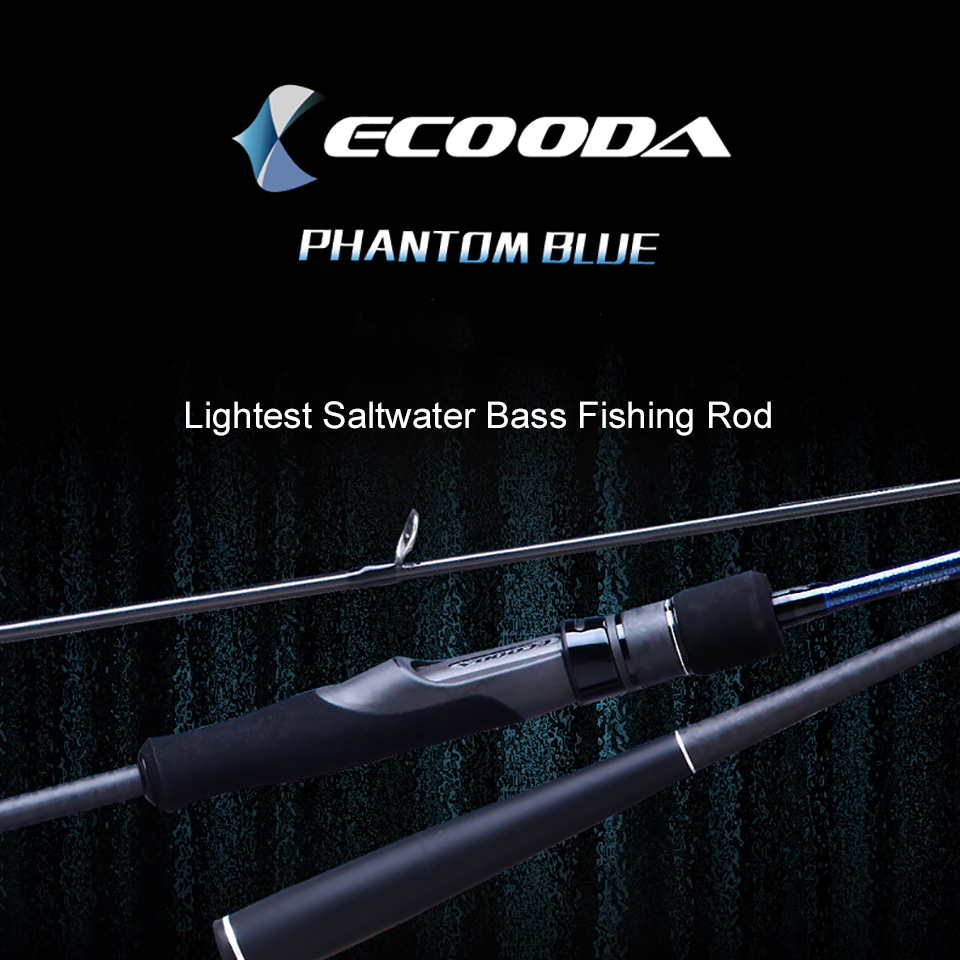 Ecooda Phantom Blue Lightest Saltwater Bass Fishing Rod Japan Toray Carbon Fiber Fishing Rod phantom dvm 3019g is blue по навител