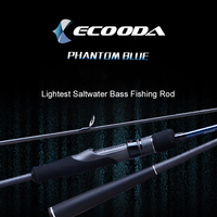 Ecooda Phantom Blue Lightest Saltwater Bass Fishing Rod Japan Toray Carbon Fiber Fishing Rod