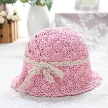 New Handmade Flower Straw parent-child Sun Hats For Women Wide Brim Beach Summer Elegant Ladies Breathable Collapsible