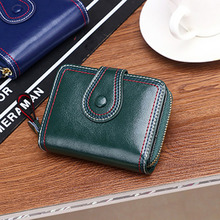 wallet women Split Leather card holder purses Fashion short Zipper&Hasp Solid Organizer Wallets billetera para mujer new 2019