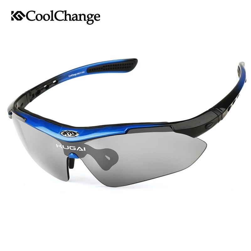 CoolChange Polarized Cycling Glasses Bike Sports Sunglasses Goggles Bicycle Glasses Protection Eyewear 5 Lens Myopia Frame