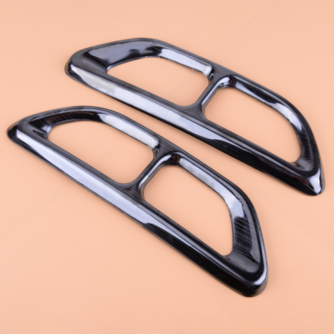 beler Metal Black Titanium Mufflers Rear Cylinder Exhaust Pipe Tip End Cover Trim Fit For Honda Accord 2018 Chromium Car styling|Chromium Styling| |  - title=