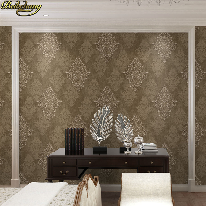 beibehang European retro deer skin Bedroom wallpaper for walls 3 d Living Room TV Background 3D Wall paper roll for living room beibehang high quality embossed wallpaper for living room bedroom wall paper roll desktop tv background wallpaper for walls 3 d
