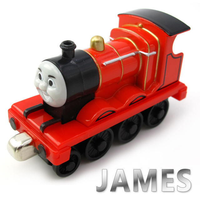 Diecasts Vehicles Thomas T077D JAMES And Friends Magnetic Tomas Truck Car Locomotive Engine Railway Train