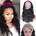 360 Lace Frontal Closure Malaysian Body Wave Frontal Pre Plucked 360 Frontal Ear To Ear Lace Frontal 360 Closure With Baby Hair