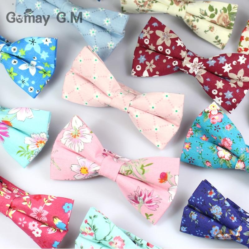Klassinen kukkakuvioinen solmio miehille tulosta puuvilla Bowtie - Vaatetustarvikkeet - Valokuva 2