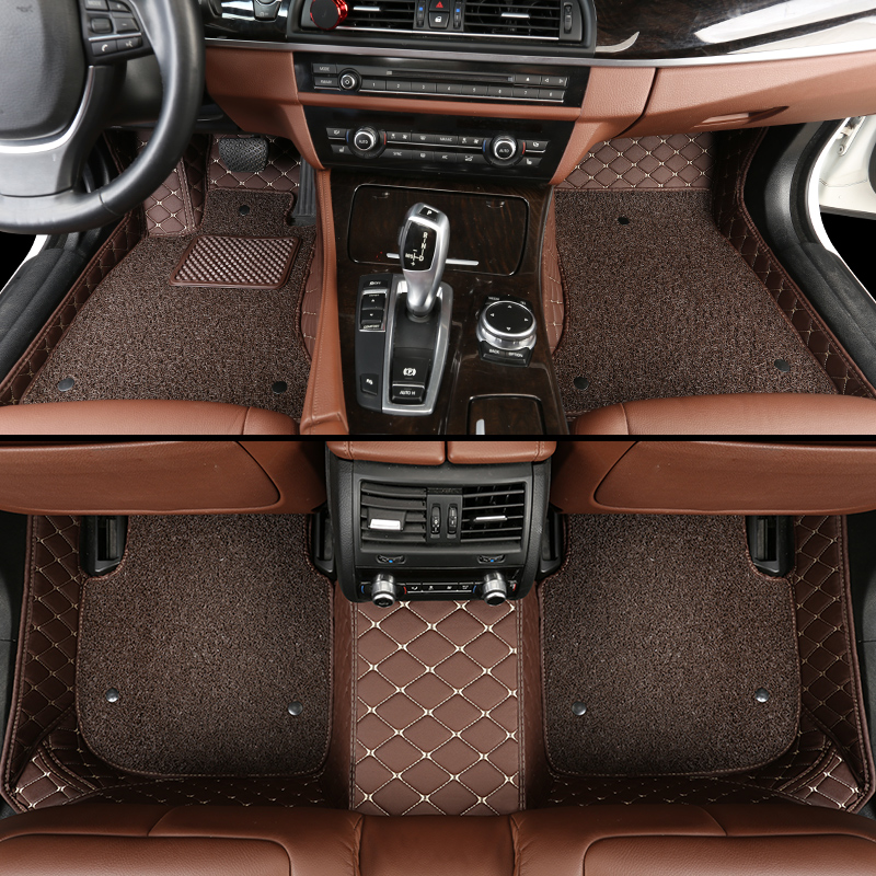 leather car floor mats for BMW all model X3 X1 X4 X5 X6 Z4 525 520 f30 f10 e46 e90 e60 e39 e84 e83 car styling-in Floor Mats from Automobiles & Motorcycles    2