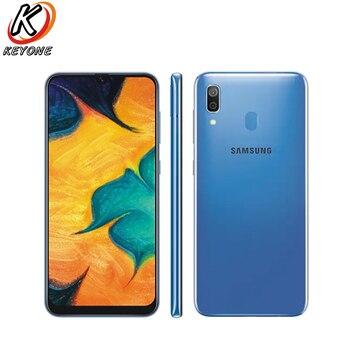 Перейти на Алиэкспресс и купить Новый Samsung Galaxy A30 A305F-DS 4G LTE мобильный телефон 6,4 дюйма 4 Гб ОЗУ 64 Гб ПЗУ Восьмиядерный двойная задняя камера Android 9,0 Dual SIM телефон