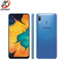 "New Samsung Galaxy A30 A305F DS 4G LTE Mobile Phone 6.4"" 4GB RAM 64GB ROM Octa Core Dual Rear Camera Android 9.0 Dual SIM Phone"