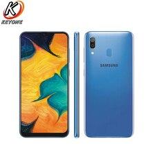 """Yeni Samsung Galaxy A30 A305F DS 4G LTE cep telefonu 6.4 """"4GB RAM 64GB ROM Octa çekirdek çift arka kamera Android 9.0 çift SIM telefon"""