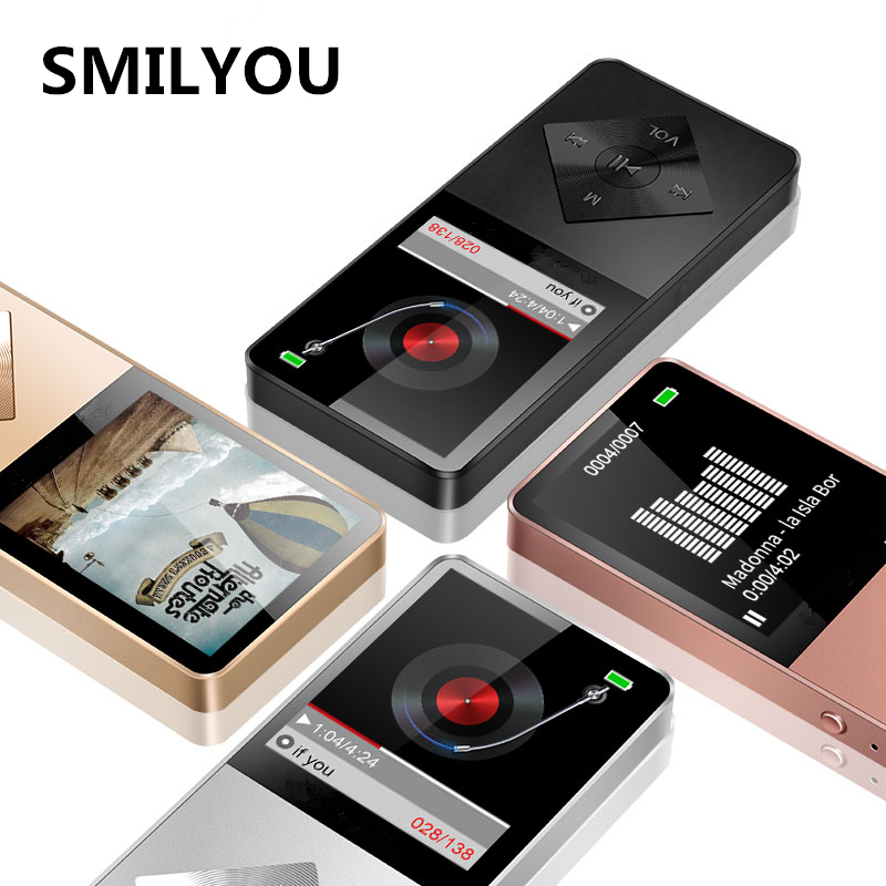 SMILYOU Speaker metal Player 4GB 8GB 16GB HIFI Lossless Sound music alloy Music Player FM Radio Voice Recorder E-Book