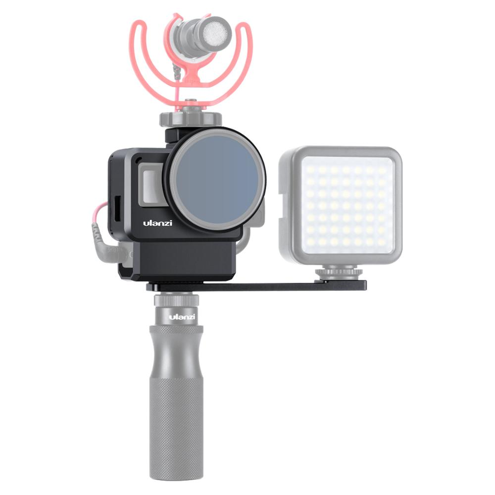 Ulanzi V2 Pro Gopro Vlog Case Patent Design w universal Filter Adapter Ring Lens Protection Cover Supporting Microphone Light