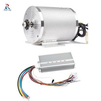 Motor eléctrico para motocicleta 72V 3000W 50A 80A, Kit de conversión de bicicleta eléctrica con batería, accesorios para bicicleta, pieza controladora