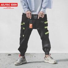 2c7dc139402c Aelfric Eden Harajuku Large Pockets Spliced Cargo Pants Feet Locomotive  2018 Fashion Trousers Streetwear Casual Male