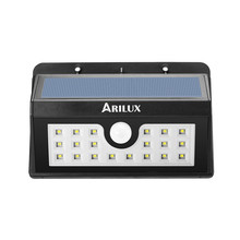 ARILUX AL-SL02 Wireless Solar Powered 20 LED Solar Light Outdoor Garden Light Waterproof PIR Motion Sensor Pathway Wall Lamp