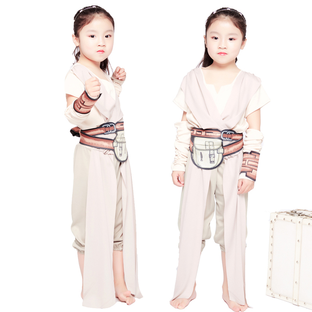 Kids Rey Fancy Dress Girls Cosplay