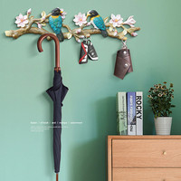 American Style Bird Decorative Key Hook, Wall Hanging Resin Crafts, Wall Decoration Hanger Wall Decoration R1261