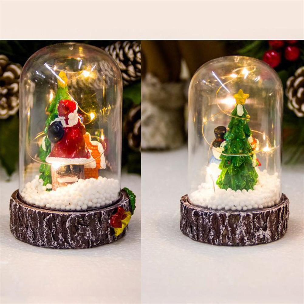 Arbol De Navidad Decoracion Adornos Santa Snowman Navidad Decoracion - Arbol-de-navidad-artesanal