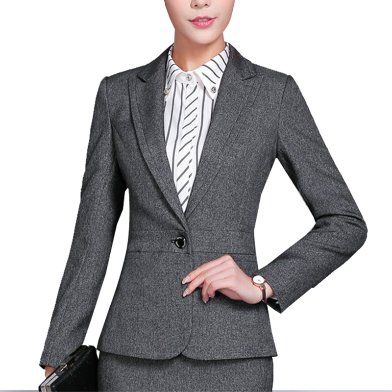 Anzüge & Sets 2019 Neuestes Design Mode Frauen Ol Lange Hülse Dünne Taste Business Blazer Jacke Mantel Outwear