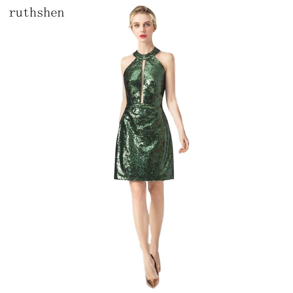 US $46.79 35% OFF|ruthshen Vintage Sheath Knee Length Mother Dress Dark  Green Elegant Sequin Custom Plus Size Tea Length Sheath Mother Formal  Gown-in ...