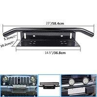 New Arrival Stainless Steel Bull Bar Type Car SUV Bumper License Plate Work Lamp Bracket Kit