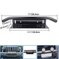 New Arrival Stainless Steel Bull Bar Type Car SUV Bumper License Plate Work Lamp Bracket Kit