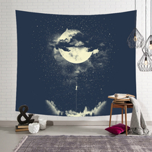 Psychedelic Starry Sky Wall Hanging Tapestry Galaxy Planet 3D Printed Cloth Tapestries Home Bedroom Decoration