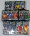 The Avengers Superman Iron Man Capitán América Hulk Thor Figuras de Acción Juguetes cabeza de Silicona De doble cara llavero de PVC