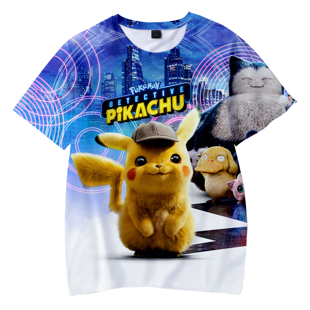 2019-new-anime-movie-font-b-pokemon-b-font-detective-pikachu-3d-children's-wear-boy-girl-kids-casual-t-shirt-short-sleeve-clothes