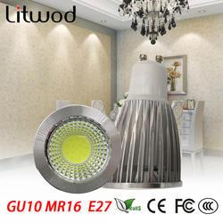 Litwod Z20 10 шт светодиодный лампы 85-265 V супер яркий 3 W 5 W 7 W прожекторы Светодиодный светильник Alternative50W галогенная лампа GU10 E14 E27 GU5.3 MR16