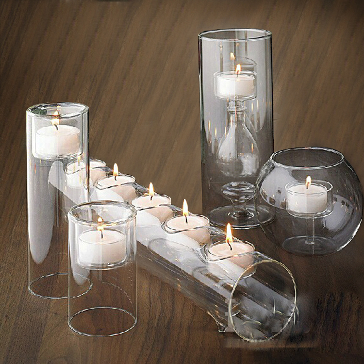 Stunning Set/5 Glass Candle Holders Cylinder Ball Tube For Candle , Wedding Party  Table Centerpieces In Candle Holders From Home U0026 Garden On Aliexpress.com  ...