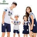 Семьи соответствующие наряды минни маус комплект одежды для семьи с коротким рукавом отца сыну матери-дочери соответствующие семья рубашки
