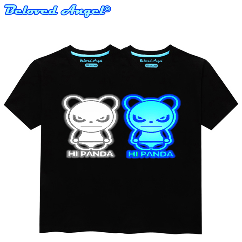 Luminous Skull Kids T Shirt Fluorescent Children T-shirt Glow In Dark Boys Girls Tops Tees Summer Clothes Toddler Baby Clothing