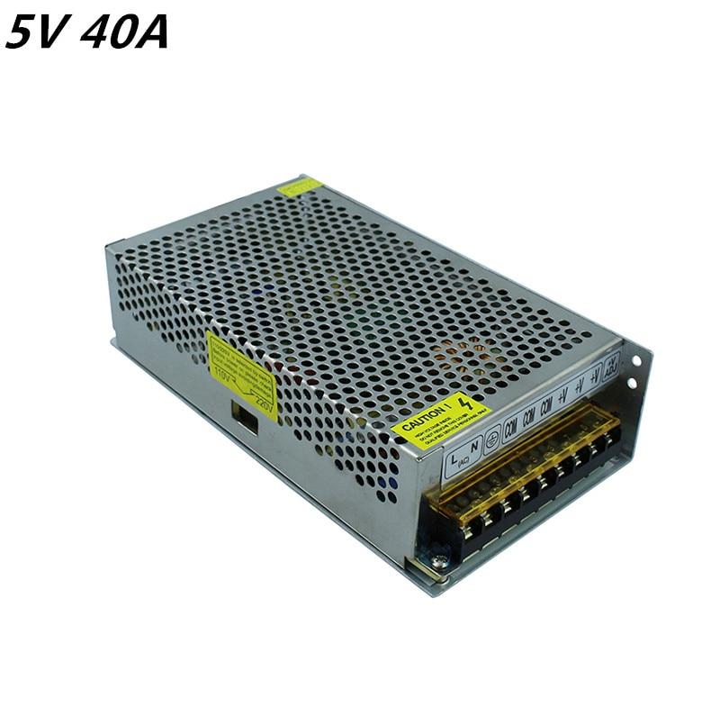5 V 40A 200 W commutateur de commutation alimentation pilote pour LED bande lumières CNC impression 3D AC 110-220 V livraison gratuite
