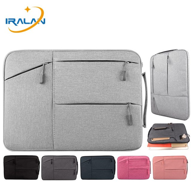IRALAN Waterproof portable handbag Laptop Sleeve 14 15.6 Case for MacBook Pro 11 12 15 cover for Xiaomi Air 13.3 Notebook bag