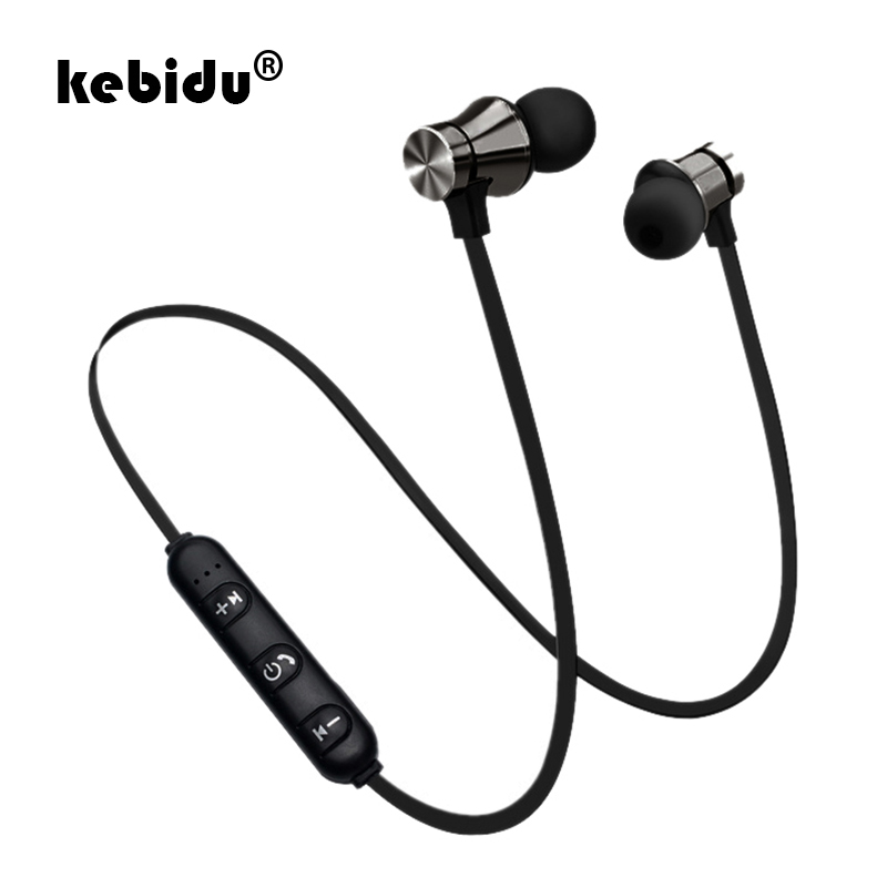 kebidu 4 colors Magnetic Music Bluetooth 4.2 Earphone XT11 Sport Running Wireless Bluetooth Headset With Mic For IPhone Samsung(China)