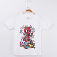 Boys Shirts Summer Tops Deadpool T Shirt Cotton For Kids Clothes Short Funny Children Clothing Child Tees Unisex Size 24M-12T deadpool child t shirts for girls boys 2018 summer costume x men marvel t shirt cotton boys t shirt baby clothes anime top tees