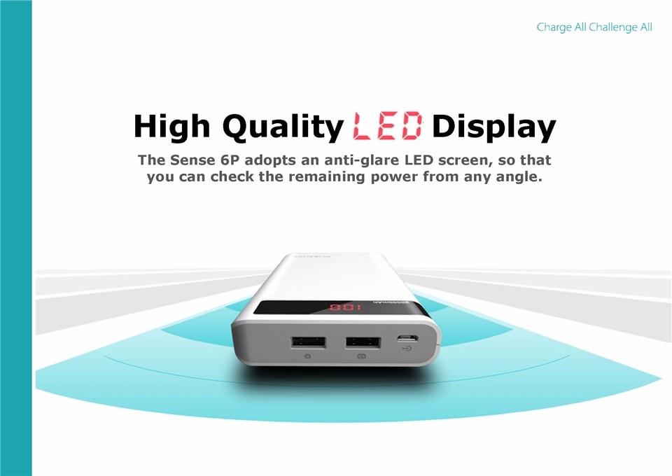 ROMOSS Sense 6P 20000mAh Power Bank Dual USB Portable External Battery 3