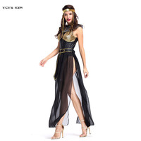 Halloween Egyptian Pharaoh Cleopatra Costumes for Woman Female Queen Goddess Cosplays Carnival Purim Masquerade Bar party dress