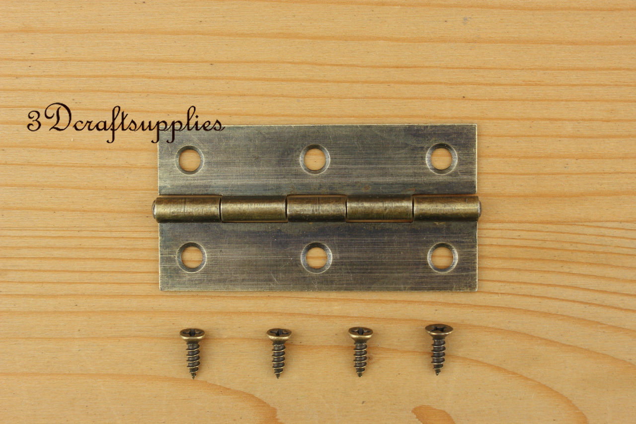 6 Pcs metal Hinges wooden cigar box jewelry Making anti brass 63mm x 33mm P127