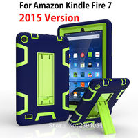 Kindle Fire 7 Case 2015 Kids Safe Armor Shockproof Heavy Duty Silicone PC Tablet Stand Case Cover For Amazon Kindle Fire 7 inch