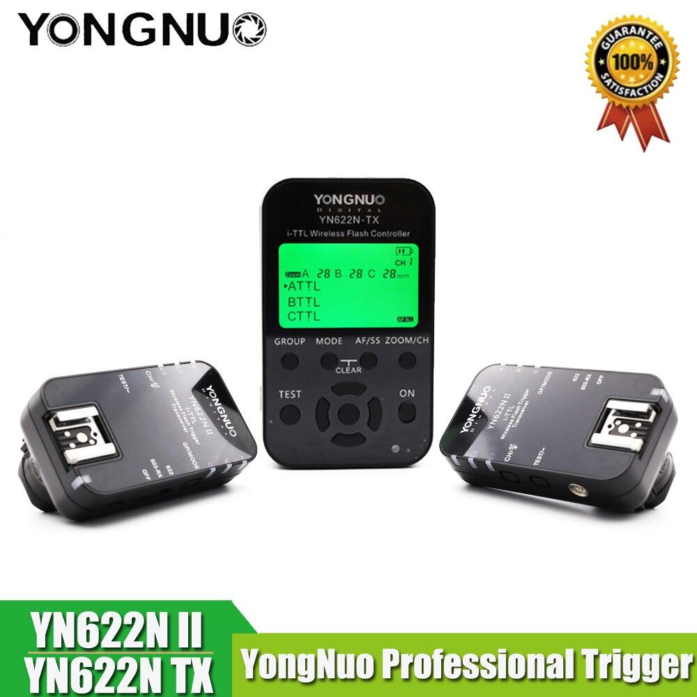 YN-622N II déclencheur YN622N-TX LCD contrôleur ETTL sans fil Flash déclencheur YONGNUO émetteur-récepteur pour Nikon D800 D800E D800S D600 D610