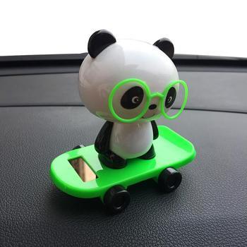 Dancing Panda Swinging  Car Ornament 1