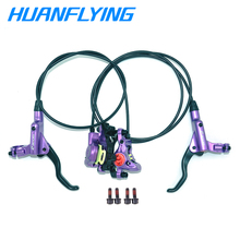 Mountain Bike Hydraulic Disc Brake Lever Front 800/ Rear 1400 mm For Bike Disc Brake Clamp Brake Pads 1set 2 in 1 front handle lever hydraulic disc brake 130mm disc fit for atv 350cc 200cc 250cc bike go kart buggy scooter parts