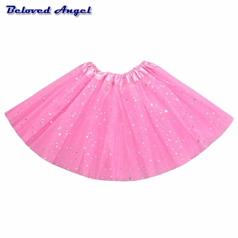 2-8Yrs Translucent Children Fluffy Pettiskirts Tutu Saias Baby Girls Skirts Princess Skirt Girls Ballet Dance Wear Party Clothes 6